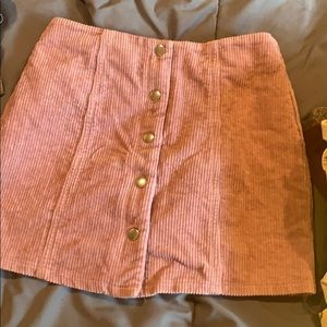 Forever 21 Skirts - Pink button up skirt